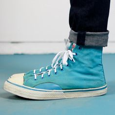 1987 Vision Street Wear Teal Converse Style Sneakers via Etsy. Teal Converse, Converse Style, Vision Street Wear, Shoe Boots, Shoes, Sneakers Fashion, Skate, Blue Green, High Top Sneakers