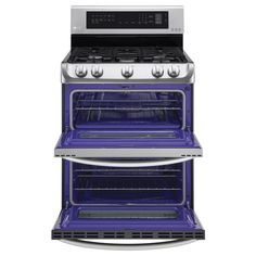 LG - LDG4313ST - 6.9 cu. ft. Double-Oven Gas Range w/ProBake Convection™ & EasyClean® – Stainless Steel | Sears Outlet