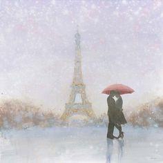 Framed Eiffel Romance Print