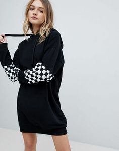 96bd6f17b9d0 from sleekchiconline.tumblr.com · ASOS Checkerboard Hoody Dress Party  Dresses