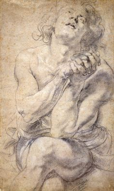 Seated Male Youth (Study for Daniel), Sir Peter Paul Rubens