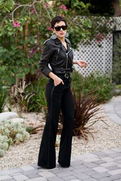 Rocker chic, love the pants