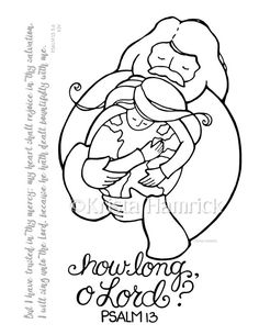 How Long O Lord Coloring Page 85X11 Bible By KristaHamrick