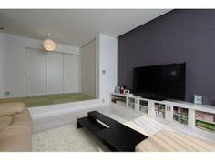 2F:LDK 小上がりの畳スペースは扉を開けるとサンルームとひと続き。Onocom Design Center