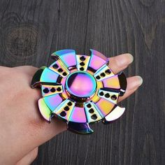 Colorful Focus Toy Wheel Shape Finger Fidget Spinner -  COLORMIX