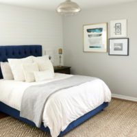 Sponsored: Our bedroom refresh has made some serious progress with a navy headboard and a new rug from Wayfair! Navy Headboard, Diy Playbook, Best Bedding Sets, Luxury Bedding, Apartment Therapy, Master Bedroom, Neutral Rug, Headboards, Rugs