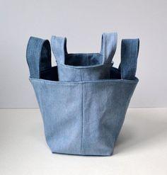 Idee davvero furbe per riciclare i jeans denim tote bag