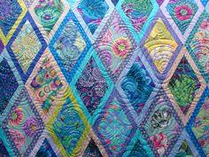 Quilt Vine: overall swirls design, Kaffe Fassett quilt by Diann