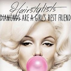 "So true - ""Hairstylists are a girl's best friend"" #GermainDermatology Favorite~ www.germaindermatology.com More"