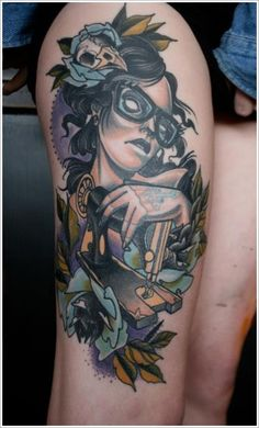leg tattoos for girls ideas ; leg tattoos for guys ; Cute Thigh Tattoos, Back Of Thigh Tattoo, Upper Thigh Tattoos, Girl Leg Tattoos, Thigh Tattoo Designs, Arm Tattoos For Women, Tattoo Designs For Women, Sexy Tattoos, Unique Tattoos