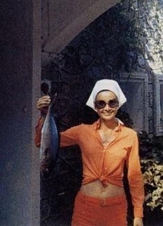 Audrey Hepburn  vacationing on the island of Giglio in Italy ~ 1970