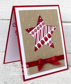 christmas washi tape star card VIDEO tutorial                                                                                                                                                                                 More