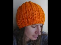 ▶ Easy Ribbed Hat Crochet Tutorial - Can be made into a slouch - YouTube