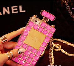 Perfume bottles apple 4s 5s phone shell mobile phone sets 5 iPhone5s shell protective sleeve rhinestone lanyards IP4S on Etsy, $21.90 AUD
