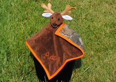 Camoflage Lovey Security Stuffed Animal Blanket by LoZsHandmade on Esty - just order this for our soon to be here son - goes perfect with his deer theme nursery!! Love IT!