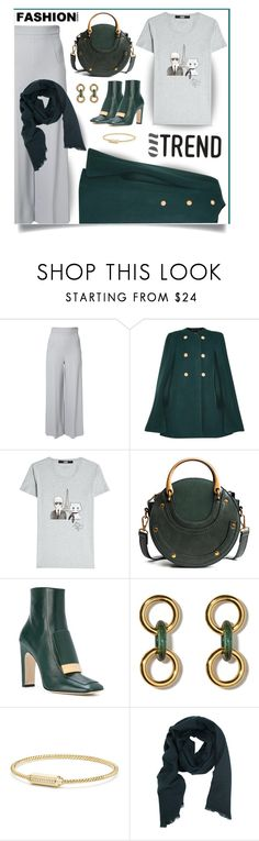 """""""Dress up your fave t-shirt"""" by outfitsloveyou ❤ liked on Polyvore featuring Roland Mouret, Chloé, Karl Lagerfeld, Sergio Rossi, David Yurman and TIBI"""