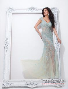 Tony Bowls Collection Dress 114C11 Formal Dress by Tony Bowls Collection. The fabric in this style is Beaded Illusion