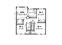 Second Floor Plan of Colonial   House Plan 24554