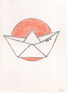 Barquito de Papel. My Drawings, Photo And Video, Videos, Instagram, Paper Boats, Paper Envelopes, Blue Prints, Drawings, Art
