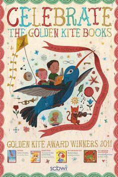 2011 Golden Kite Children's Book Awards Poster by John Parra