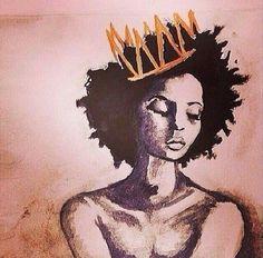 All hail the Queen. Artist Unknown
