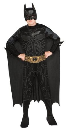 [Halloween Batman Costumes Boys] Batman Dark Knight Rises Child's Batman Costume with Mask and Cape - Large >>> Check out the image by visiting the link. (This is an affiliate link) #HalloweenBatmanCostumesBoys