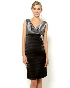 R&M Richards Sleeveless Shutter Dress