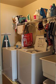 Functional Laundry Room Facelift - When we first purchased our new home I was absolutely thrilled about the second-floor laundry room.  After living here for a…