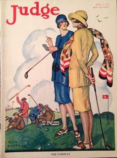 Judge Magazine June 1926 Lady Golfer Cover