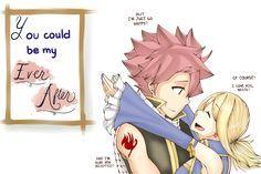 Find images and videos about fairy tail, Lucy and natsu on We Heart It - the app to get lost in what you love. Fairy Tale Anime, Fairy Tail Art, Fairy Tail Guild, Fairy Tail Ships, Fairy Tales, Nalu, Jerza, Fairytail, Fairy Tail Comics
