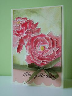 water color roses stampin up | Recent Photos The Commons Getty Collection Galleries World Map App ...