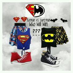 Superman Outfit, Batman Outfits, Batman Vs Superman, Batman Halloween Costume, Halloween Costumes For Teens, Girl Costumes, Best Friend Outfits, Couple Outfits, Outfits For Teens