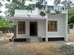 House Balcony Design, Single Floor House Design, Village House Design, Kerala House Design, Simple House Design, Bungalow House Design, House Front Design, House Awnings, Low Budget House