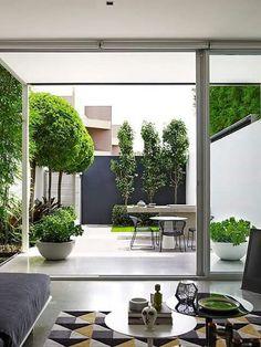 130 perfect small backyard & garden design ideas page 25 Small Backyard Gardens, Garden Spaces, Backyard Patio, Backyard Landscaping, Landscaping Ideas, Small Courtyard Gardens, Pergola Patio, Terrace Garden, Modern Backyard