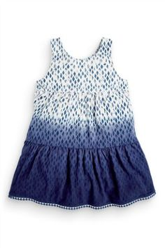 Buy Dip Dye Printed Dress from the Next UK online shop Next Clothing Kids, Latest Fashion For Women, Kids Fashion, My Spring, Blue China, Dip Dye, Next Uk, Mom Jeans, Kids Outfits