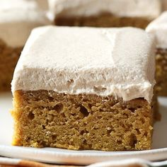 Pumpkin Bars with Brown Sugar Frosting - Handle the Heat