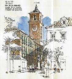 Málaga, Iglesia de Santiago by Luis Ruiz Padron