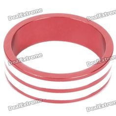 Color: Red + white - Material: Aluminum alloy - Height: 10mm - Inner diameter: 28.6mm - CNC processing - Suitable for front fork diameter: 28.6mm http://j.mp/1lknHB5