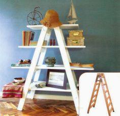 Escaleras como Estantes, Repisas y Libreros