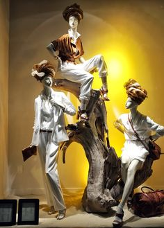 stylecurated: -WEDNESDAY WINDOWS-   Find mannequins in various poses like this at Mannequin Madness