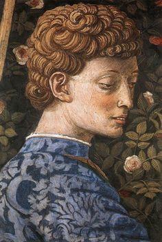 Benozzo Gozzoli - Procession of the Middle King (detail)  Дворец Медичи-Риккарди (Флоренция) - Часовня волхвов. Беноццо Гоццоли. (1420-1497). Шествие короля (фрагмент).