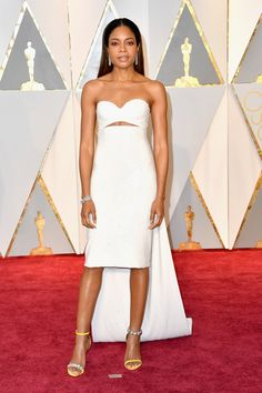 Naomie Harris in a Calvin Klein By Appointment dress and Bulgari jewelry