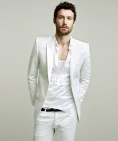 Discover the all-white party and casual trend with the top 40 best all white outfits for men. Explore cool clean styles and fashionable looks. Male Fashion Trends, Fashion Mode, Fashion Night, Mens Fashion, Fashion Ideas, Fashion Inspiration, Gentleman Fashion, Fashion Menswear, Gentleman Style