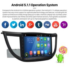 Android 5.1.1 Operation System 10.1 Inch 1024*600 Android 5.1.1 2013 2014 2015 Honda CRV Bluetooth Radio GPS Navigation with 1080P Touch Screen Stereo DVD Rearview Camera Steering Wheel Control TPMS OBDII