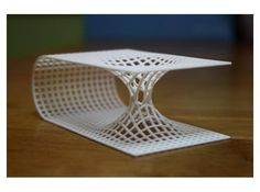 shapeways:  Travel through space and time by owning your own 3D Printed Wormhole: http://shpws.me/oBwv