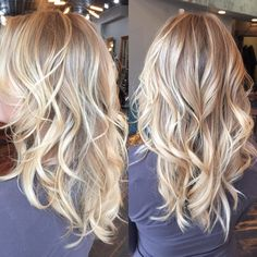 Here's Every Last Bit of Balayage Blonde Hair Color Inspiration You Need. balayage is a freehand painting technique, usually focusing on the top layer of hair, resulting in a more natural and dimensional approach to highlighting. Sandy Blonde Hair, Dyed Blonde Hair, Blonde Balayage, Icy Blonde, Bayalage, Beige Hair Color, Hair Color And Cut, Hair Colors, Champagne Blonde