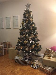 Gold Christmas, Christmas Tree, Holiday Decor, Home Decor, Homemade Home Decor, Xmas Tree, Xmas Trees, Decoration Home, Christmas Trees