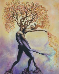 Soul Tangle ~ Oil Painting ~ Prints Available is part of Art painting - 30 x 40 oil on birch wood ~ Signed Fine Art Prints on Linen & Stretched Linen Art Black Love, Art Amour, Painting Prints, Art Prints, Nature Oil Painting, Tree Of Life Painting, Surrealism Painting, Painting Art, Flame Art