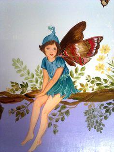fatine dei fiori-dipinto su muro- Cristina Lissiotto