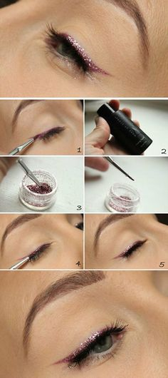 colored eye liner wing